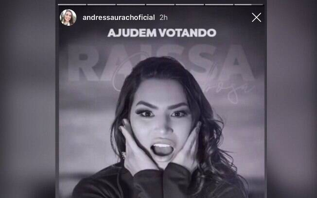 Andressa Urach declara torcida para Raissa Barbosa em