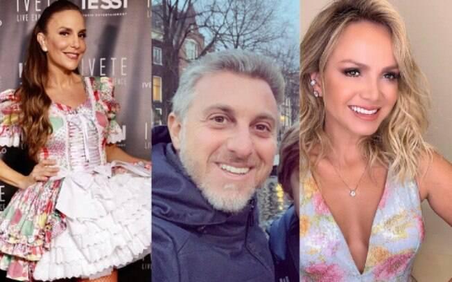Luciano Huck x Eliana x Ivete Sangalo