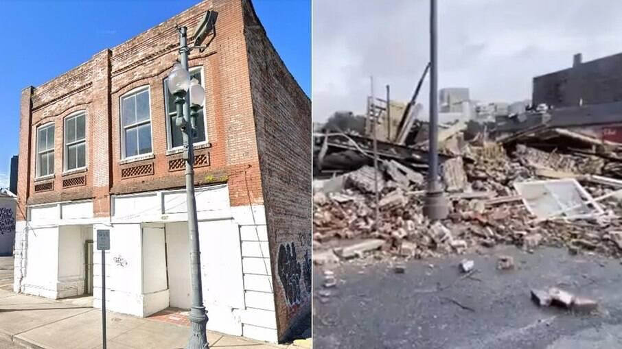 Antes e depois do furacão Ida: a Loja Karnofsky era refúgio regular para Armstrong, um dos locais históricos mais importantes de Nova Orleans