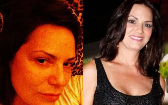 Antes e depois: Luiza Brunet mostra foto sem maquiagem nesta sexta-feira (03) no Instagram