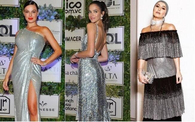 Muito brilho e fendas apareceram nos looks das famosas no 2ª edição do leilão beneficiente do Instituto Projeto Neymar Jr.