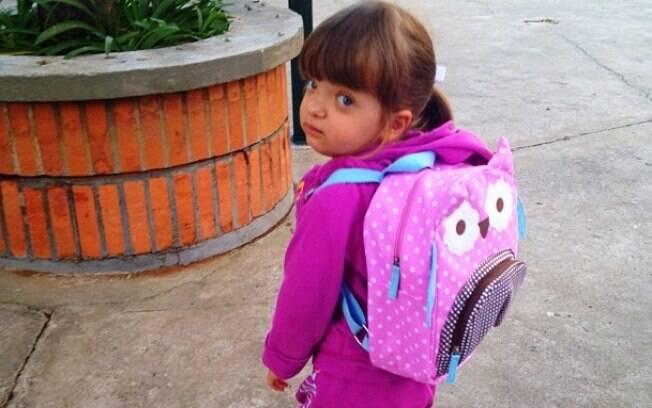 Ticiane Pinheiro postou uma foto do primeiro dia de aula de sua filha, Rafaella Justus