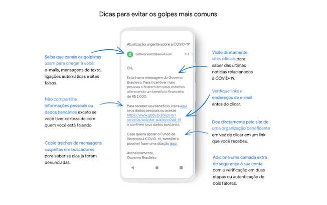 Google dá dicas de como se proteger de golpes por e-mail