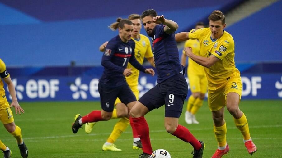 França e Ucrânia ficam no empate
