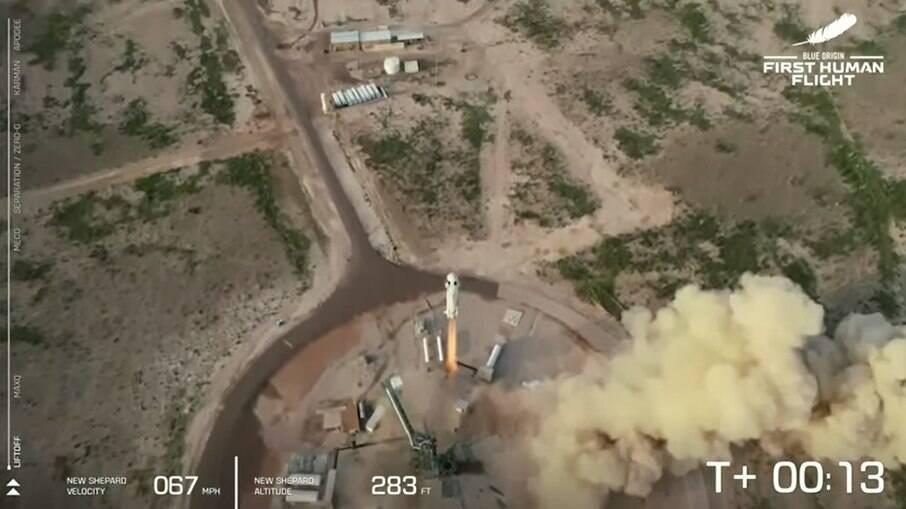 Lançamento do foguete da Blue Origin