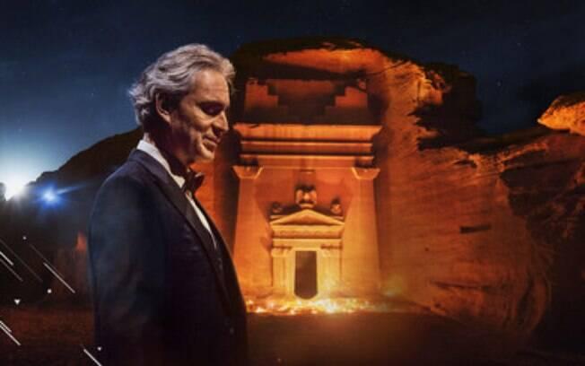 Maestro Andrea Bocelli em Hegra ao vivo e grátis no YouTube: The Royal Commission for AlUla