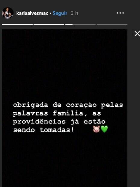 mensagem do instagram