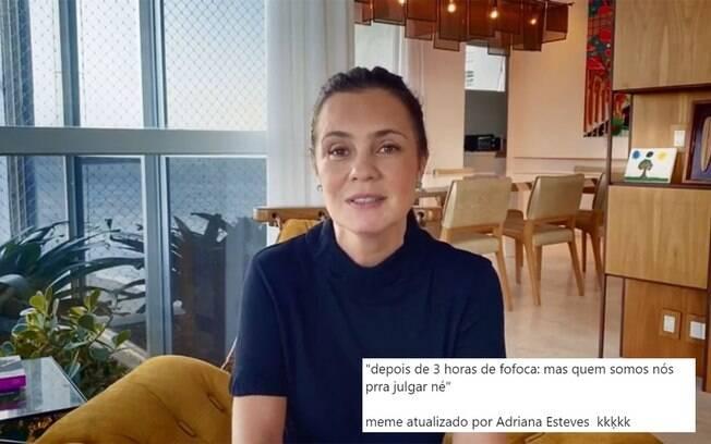 Adriana Esteves viraliza após dizer que é fofoqueira
