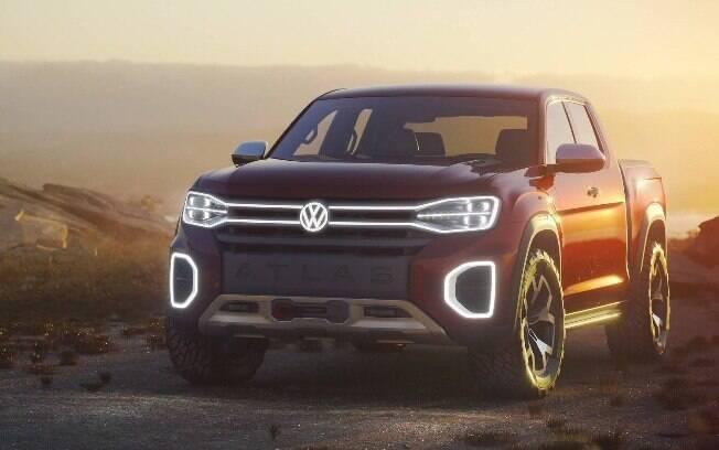 Volkswagen Atlas Tanoak: Tal como outros conceituais, tem estilo futurista, mas sem abandonar a robustez do visual