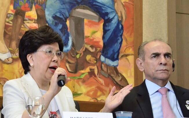 Diretora-geral da Organização Mundial da Saúde (OMS) e o Ministro da Saúde, Marcelo Castro