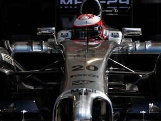 Kevin Magnussen cravou o tempo de 1min34s910 na melhor das 46 voltas que deu no circuito de Sakhir