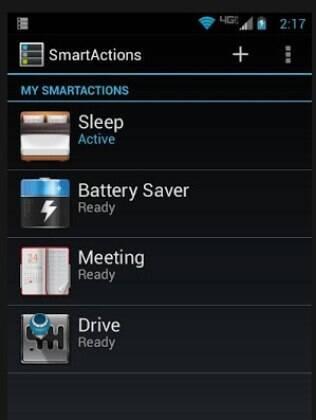 Aplicativo SmartActions, da Motorola, automatiza perfis de uso do smartphone