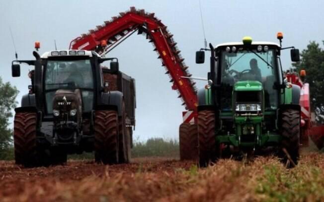 William Chase, de 48 anos, ainda cultiva batatas, seu primeiro negócio, em sua fazenda
