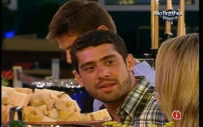 Jantar preparado pelo chef chef Roberto Ravioli fez Yuri lembrar de Laisa