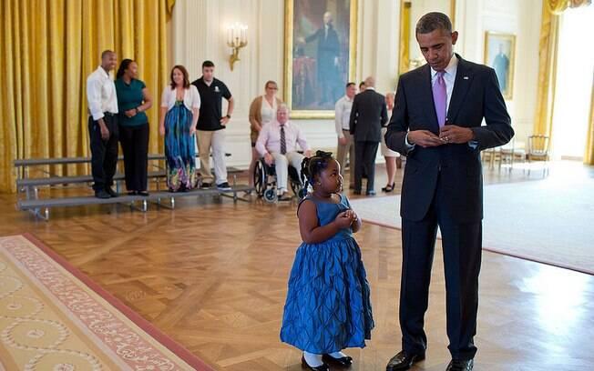 Obama escreve bilhete para professora de Alanah Poullard justificando sua falta na escola (19/9/2013)