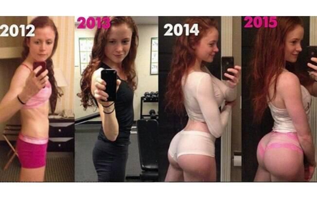 Bumbum na nuca! Blogueira mostra transformação do corpo nas redes sociais