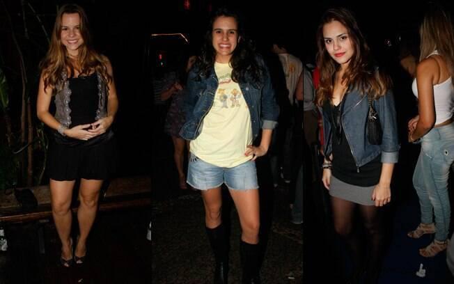 Daniela Carvalho, Luiza Casé e Jéssika Alves, que esteve na temporada de Malhação em 2009 no papel de Norma Jean