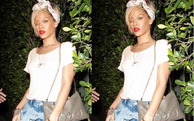 Antes de ir à casa do ator, Rihanna jantou com uma amiga