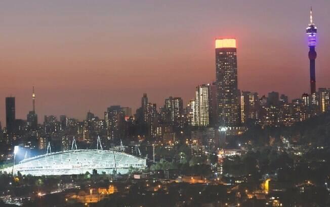 A cidade de Johannesburg é a capital financeira da África do Sul