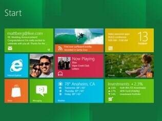 Tela inicial do Windows 8