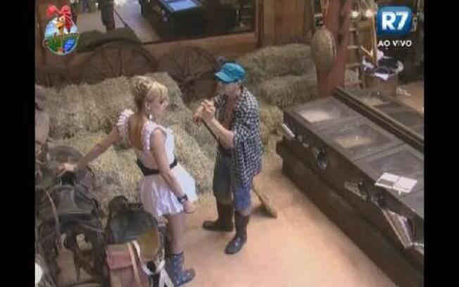Léo Áquila e Sylvinho Blau Blau conversam no Celeiro