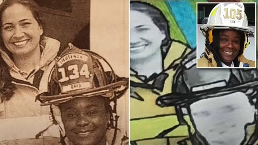 Bombeira negra processa cidade da Flórida que a retratou como mulher branca
