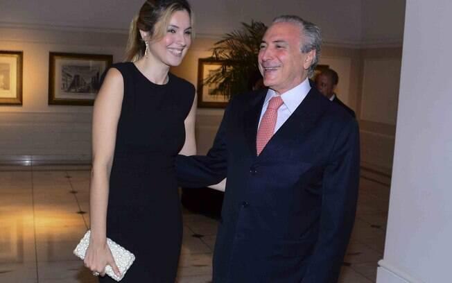 O vice-presidente Michel Temer ao lado de sua mulher, Marcela Temer, em evento no ano passado