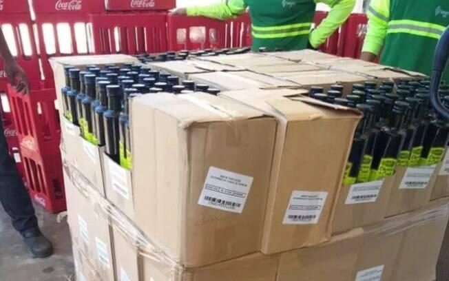 Fiscalização destruiu 4 mil frascos de azeite falso