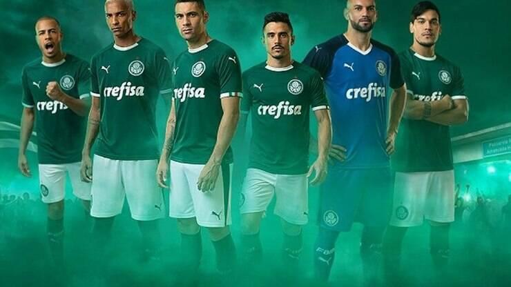 4eb701f74 Palmeiras mostra seu novo uniforme