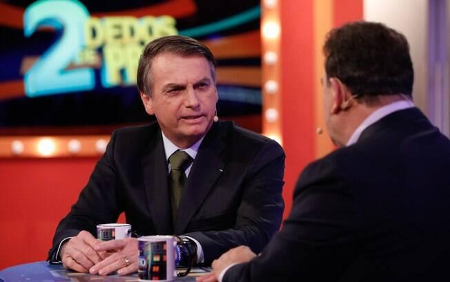Entrevista de Bolsonaro ao apresentador Ratinho, gravada no dia 27 de maio de 2019, nos estúdios do SBT