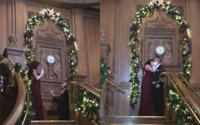 Jeremy Brown planejou um pedido de casamento totalmente inspirado no filme 'Titanic', que é o preferido da noiva, Mori