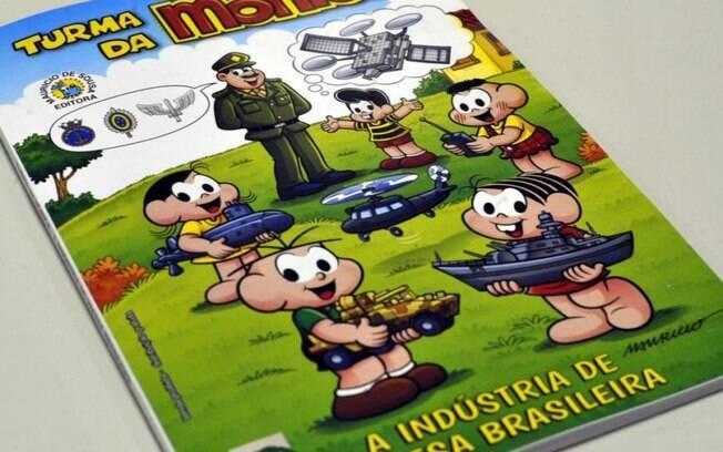 Governo federal lança revista da Turma da Mônica com temática militar
