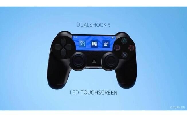Primeira renderização do controle do PlayStation 5