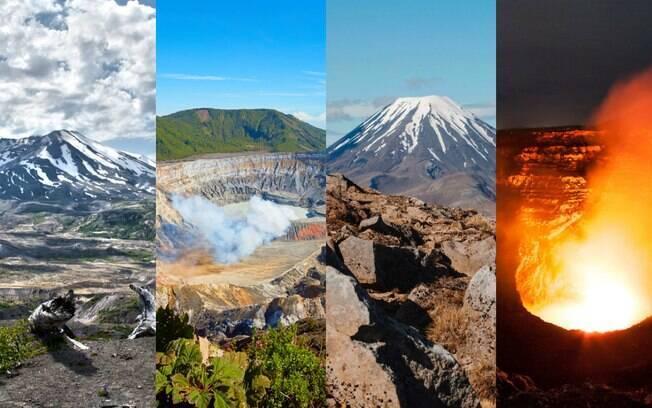 Entre vulcões inativos e outros que continuam em plena atividade, esses lugares despertam a curiosidade do ser humano