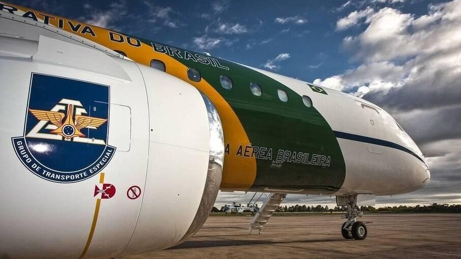 Avião da FAB que transportou 37 kg de cocaína