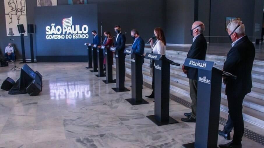 Coletiva de atualização de informações da Covid-19 no Estado de São Paulo