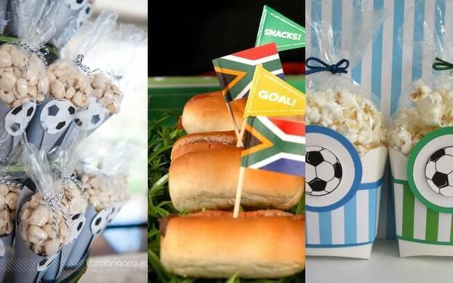 Na hora de escolher o que você vai servir na festa, uma boa opção é se inspirar nas comidas vendidas nos estádios
