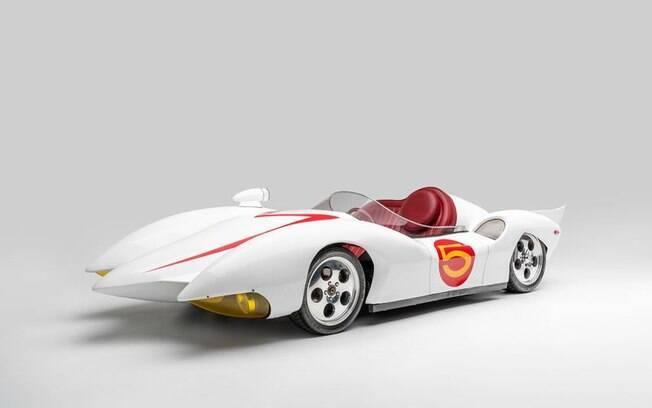De volta ao Passado com Mach 5, de Speed Racer, que também está incluído entre os modelos de carros de filmes