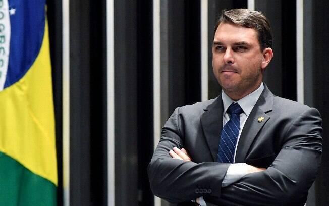 Senador Flávio Bolsonaro , filho mais velho do presidente Jair Bolsonaro