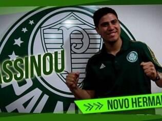 Cristaldo afirmou estar muito feliz com a oportunidade de defender o Palmeiras