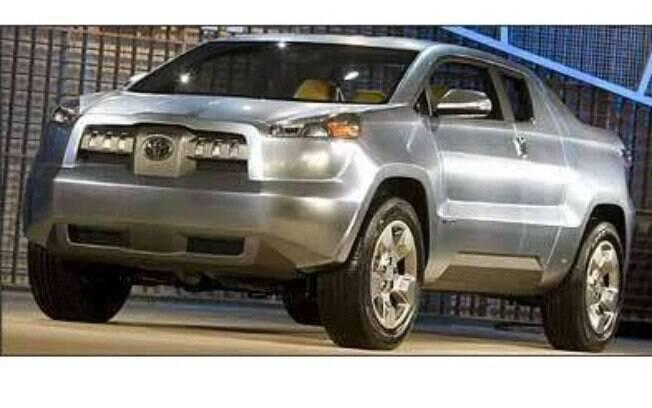 O conceito A-BAT da Toyota buscou antecipar em 2008  a tendência de picapes híbridas