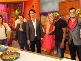 Isa com Jamie Fox, Andy Garcia e Rodrigo Santoro ao vivo na TV americana