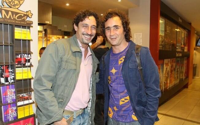 Tuca Andrada e João Miguel prestigiaram a pré-estreia do filme