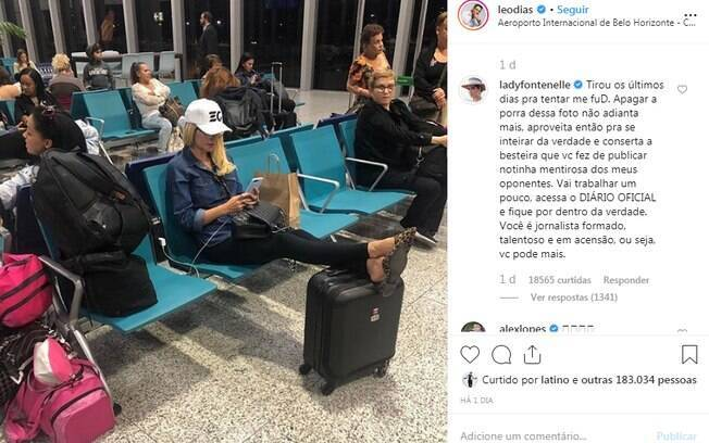 Resposta de Antonia Fontenelle a Leo Dias