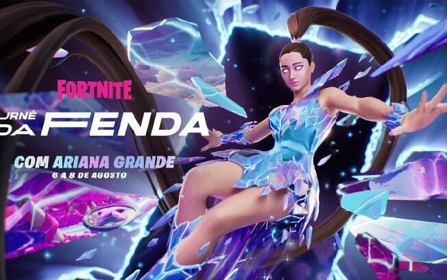 Ariana Grande no 'Fortnite': cantora ganhará skin e fará show no jogo