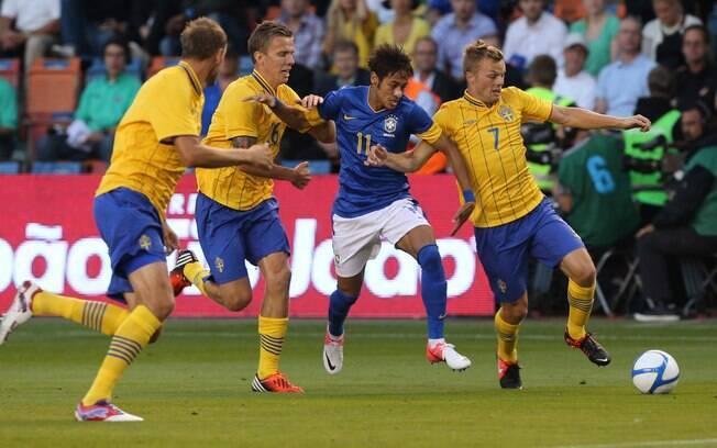 Amistoso Brasil x Suécia em Estocolmo