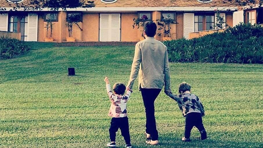 Thales Bretas e os filhos