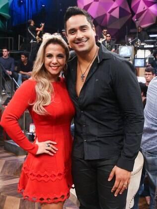 Carla Perez e Xanddy participaram da gravação do 'Altas Horas', na Globo, em São Paulo