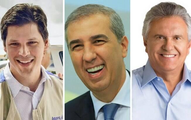 Candidatos a governador, Daniel (MDB) e Zé Eliton (PSDB) disputam vaga no segundo turno ao lado de Ronaldo Caiado (DEM)