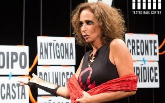 Itaú Cultural recebe Andréa Beltrão minitemporada de Antígona + conversa com o público